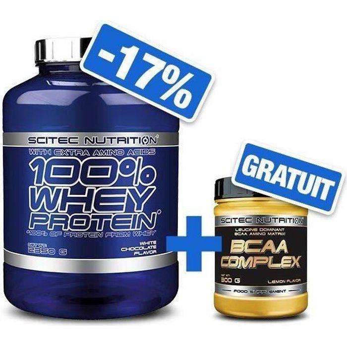 100% Whey Proteine 2350g PEANUT BUTTER + BCAA 8.1.1 Complex 300g Scitec Nutrition
