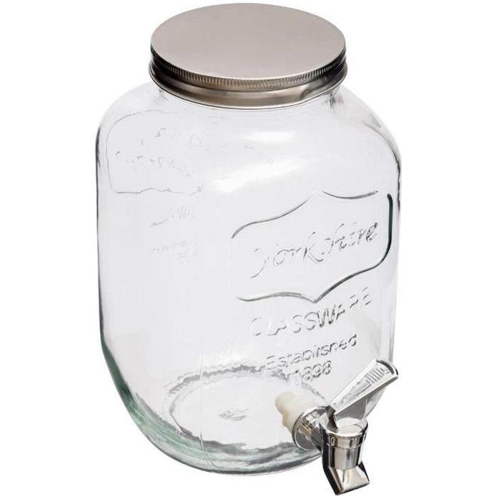 Distributeur de boisson en verre 4L Autres Blanc
