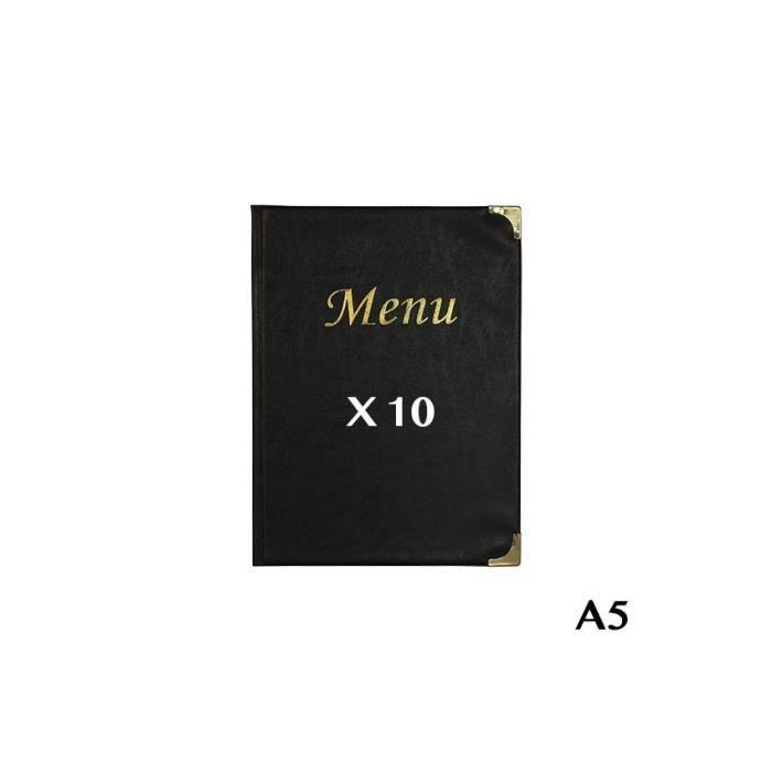 10 Protège-menus A5 Basic noir 8 Noir