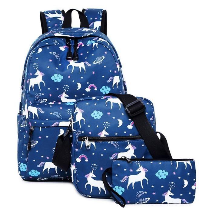 Sac à dos pour École Filles Les adolescents Sac de livre Ensemble Résistant à l'eau Ordinateur Portable Daypack‖3957