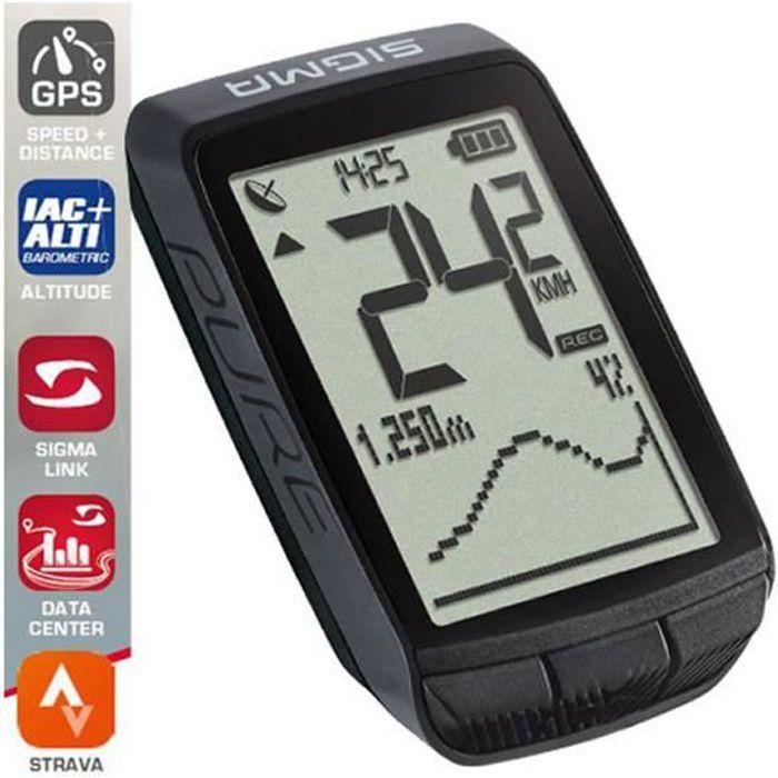 SIGMA SPORT Pure GPS - Compteur sans fil - noir