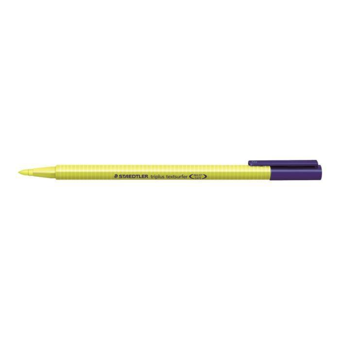 STAEDTLER triplus textsurfer Surligneur jaune encre pigmentée à base d'eau 1-4 mm trait fin