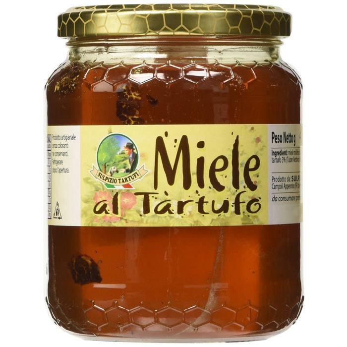Sulpizio Tartufi - miel toutes fleurs été noir Truffle 450 gr