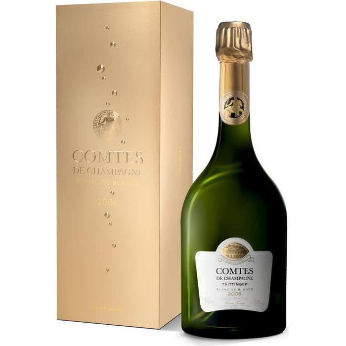 COMTES DE Champagne TAITTINGER Blanc de Blancs 2006 étui 75 cl 12,5°