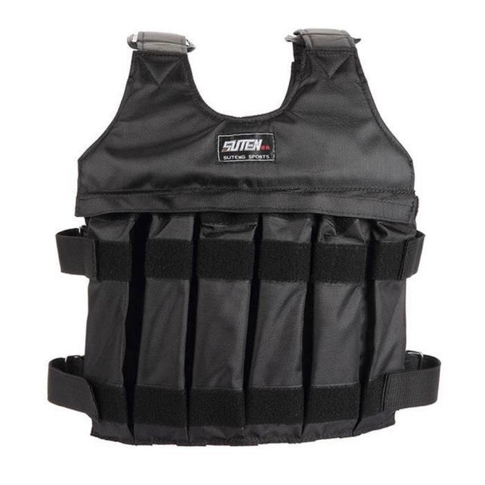 1 PC Gilet pondéré 1-20KG Vêtements de terrain de combat réglables Équipement d'entraînement pour SAC DE FORCE - VESTE LESTEE