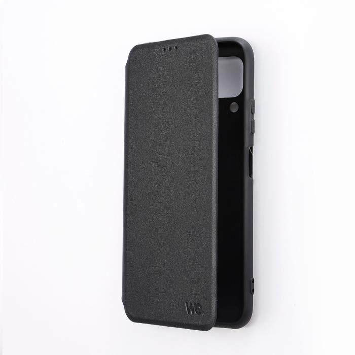 WEEtui de protection WE noir pour smartphone HUAWEI P40 LITE Résistant aux chocs et chûtes. Accès caméra et multi-position.