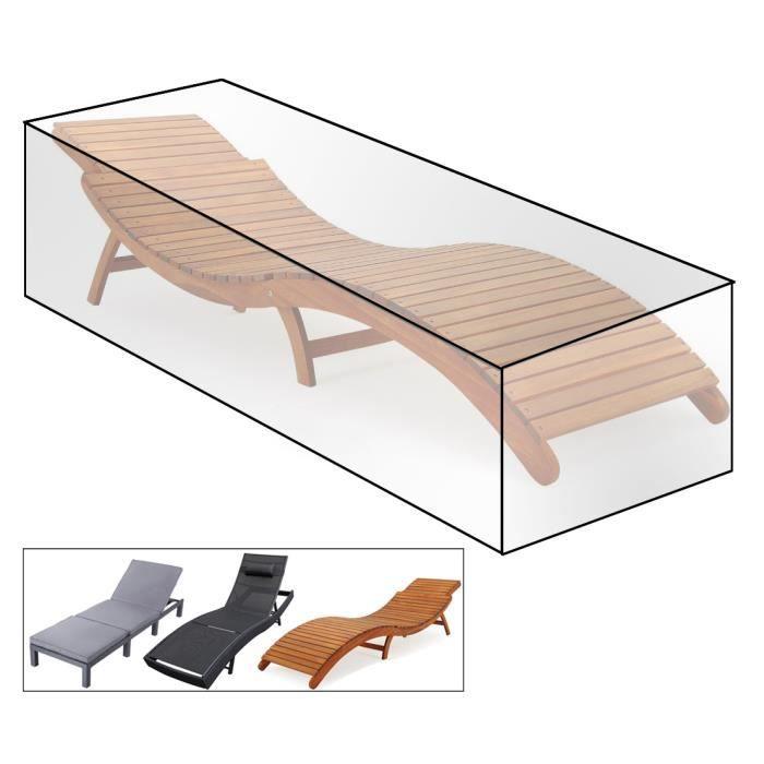 WOLTU Housse de protection étanche pour le mobilier de jardin, pour le banc de jardin, 218x77x55cm, Transparent