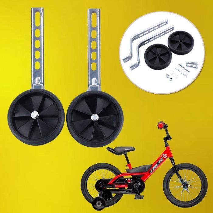 12- 20 pouces Roue de formation de vélo Roue auxiliaire de bicyclette PR enfant - Noir