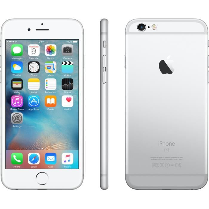 apple iphone 6s 16gb blanc achat smartphone pas cher. Black Bedroom Furniture Sets. Home Design Ideas