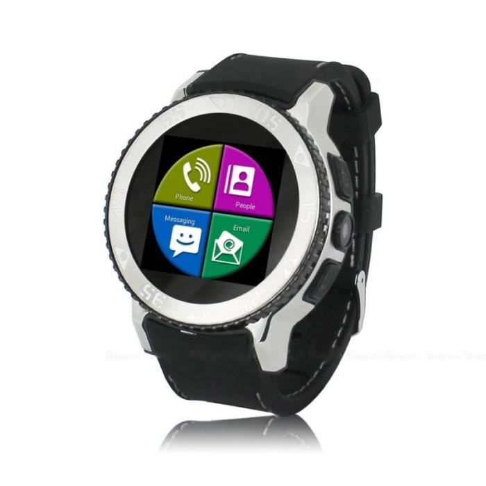 montre connect e sport gps wifi 3g waterproof noir achat vente montre connect e montre. Black Bedroom Furniture Sets. Home Design Ideas