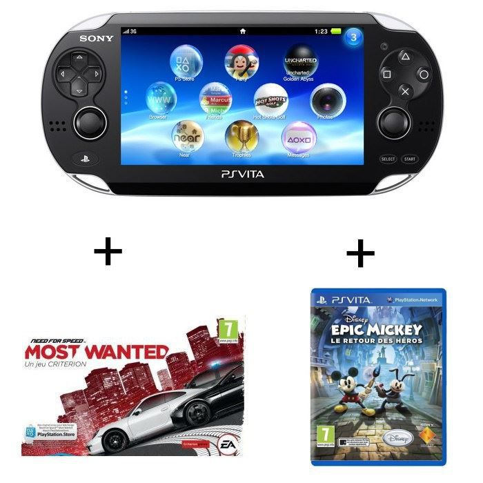 ps vita wifi need for speed epic mickey 2 achat vente console ps vita ps vita wifi nfs. Black Bedroom Furniture Sets. Home Design Ideas