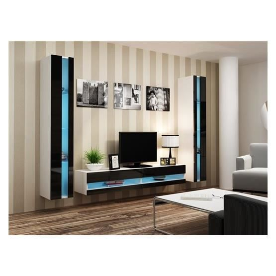 meuble tv mural peker. Black Bedroom Furniture Sets. Home Design Ideas