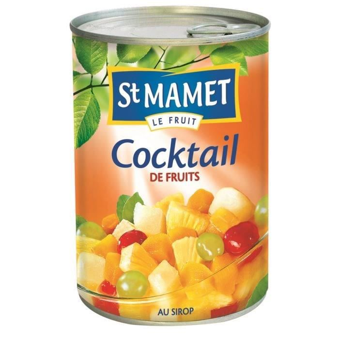 St mamet conserve de fruits bo te cocktail 250g achat for Prune en conserve