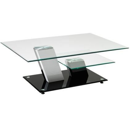 table basse verre 2 plateaux. Black Bedroom Furniture Sets. Home Design Ideas
