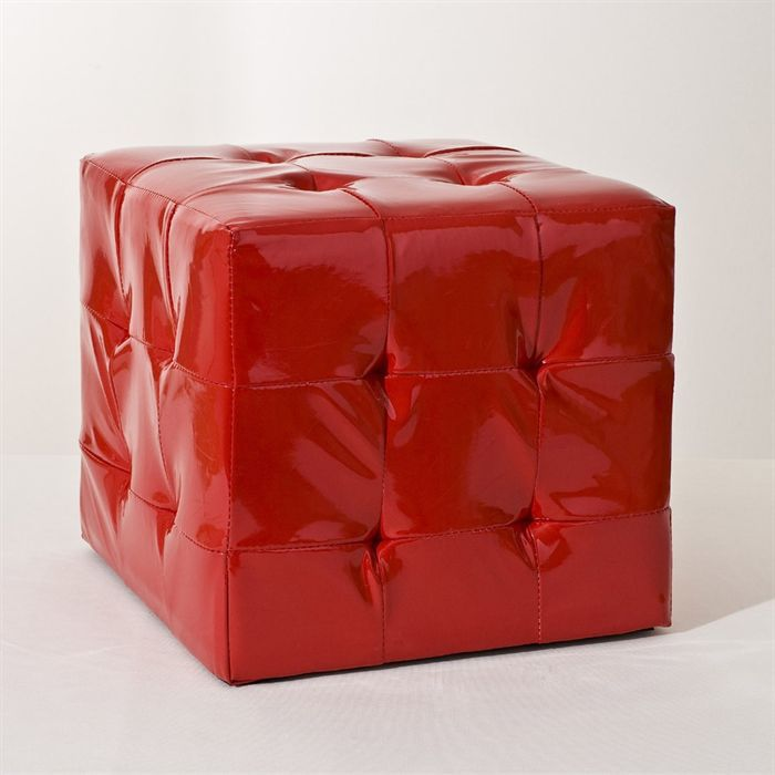 cube pouf rouge achat vente pouf poire polyur thane synth tique cdiscount. Black Bedroom Furniture Sets. Home Design Ideas