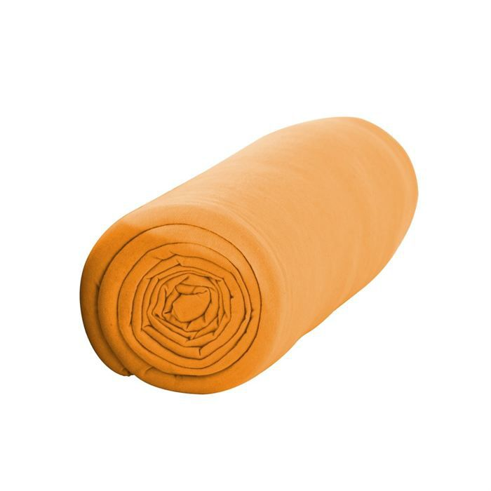 Drap housse 90x190 vendange d 39 orange achat vente drap for Drap housse 90x190