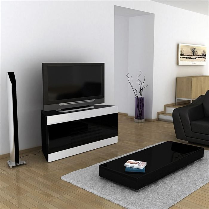 meuble tv d 39 angle laque blanc. Black Bedroom Furniture Sets. Home Design Ideas