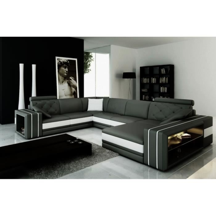 canap d 39 angle en cuir italien 8 places bentley et achat vente canap sofa divan. Black Bedroom Furniture Sets. Home Design Ideas