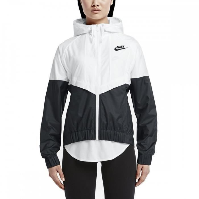 veste coupe vent nike windrunner 726138 101 blanc achat vente poncho sport cdiscount. Black Bedroom Furniture Sets. Home Design Ideas