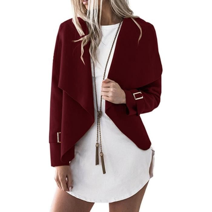 the best attitude 081d8 42859 rouge-manteau-femme-en-laine-court-col-revers-asym.jpg