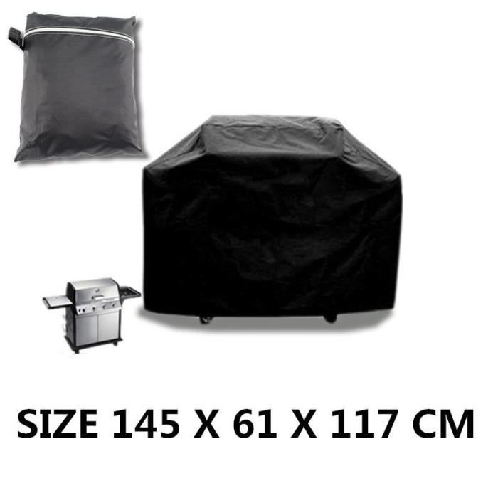 housse de protection barbecue 145x61x117cm etanche bbq cover grill protecteur achat vente. Black Bedroom Furniture Sets. Home Design Ideas