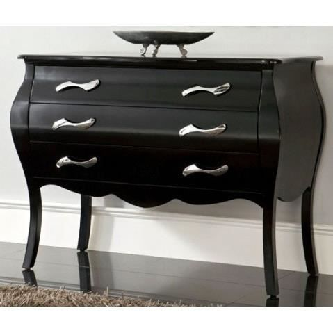 commode design jasmine noir laque 3 tiroirs achat vente commode de chambre commode design. Black Bedroom Furniture Sets. Home Design Ideas