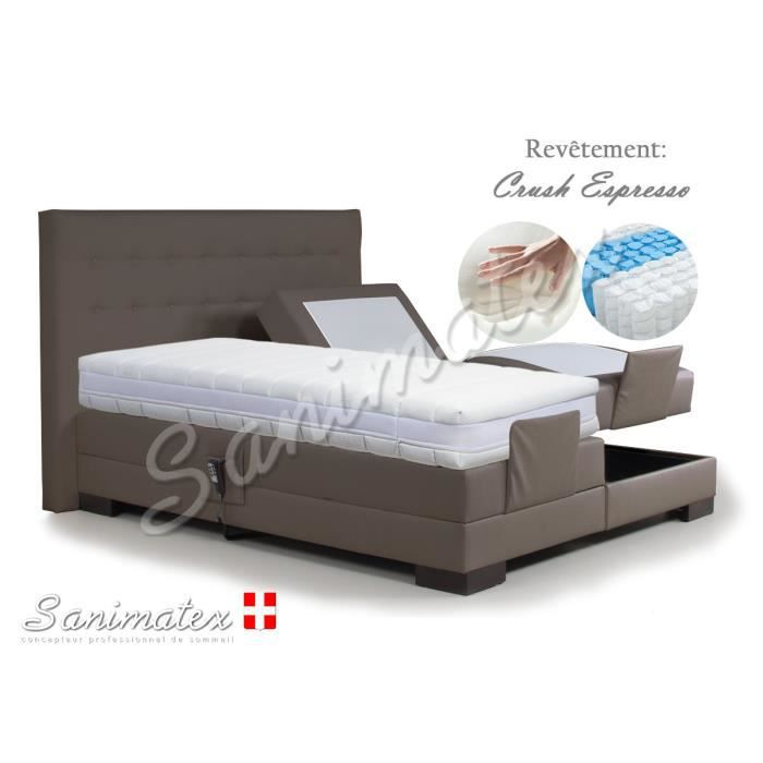 lit electrique boxspring 160x200 kilimanjaro amazonia. Black Bedroom Furniture Sets. Home Design Ideas