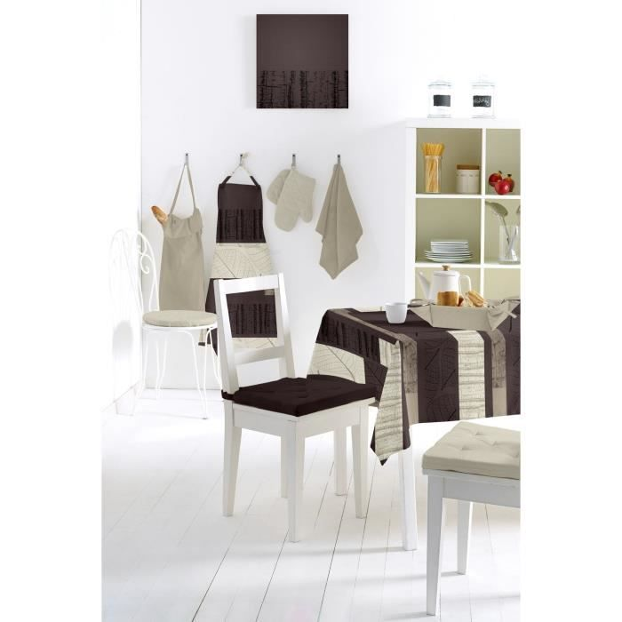 nappe toile cir e ecorce naturel 140x240cm achat vente nappe de table cdiscount. Black Bedroom Furniture Sets. Home Design Ideas