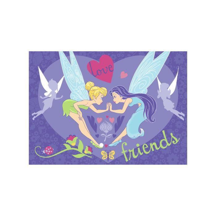 Tapis chambre fille LOVE FREINDS violet 95x133, par ...