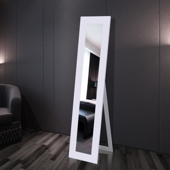 miroir en pied blanc achat vente miroir salle de bain. Black Bedroom Furniture Sets. Home Design Ideas