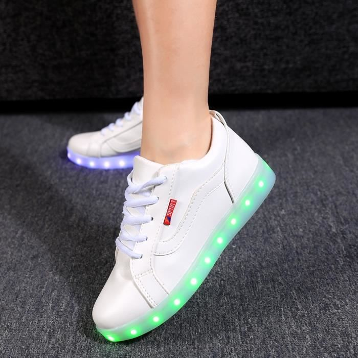 chaussures LED sport Lace Up baskets 43#