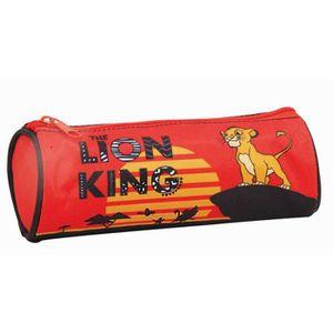 Bagtrotter Trousse Scolaire Disney Le Roi Lion 2 Compartiments Rouge Et Jaune