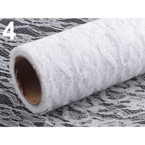 TISSU 4.5 m Blanc Dentelle Décorative en Tissu Largeur 4