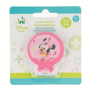 ACCESSOIRES SUCETTE  Attache Sucette Tututte Minnie Disney Baby Rose 0