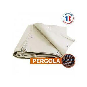PERGOLA Toile pour pergola PVC ivoire - 2 x 3,5 m - anti c