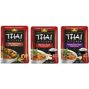 SAUCE CHAUDE THAI KITCHEN Lot d'1 Sauce Thai Satay + 1 Sauce Cu