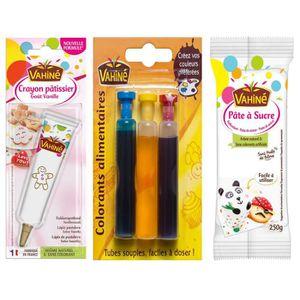 DÉCORATION PÂTISSERIE VAHINE Lot d'1 Crayon pâtissier goût vanille + 1 C