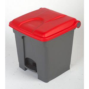 POUBELLE - CORBEILLE Collecteur de déchets à pédale, en plastique - h x