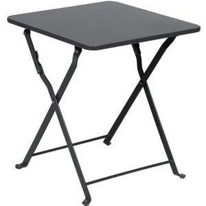 TABLE DE JARDIN  Table d'appoint Nindiri 40 x 40 cm Graphite mat -