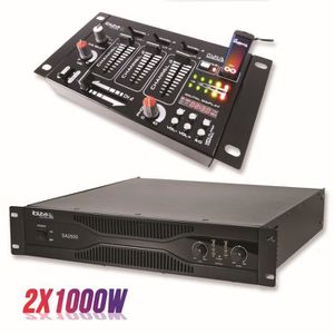 TABLE DE MIXAGE Pack sonorisation amplificateur 2000W SA2000 + Tab