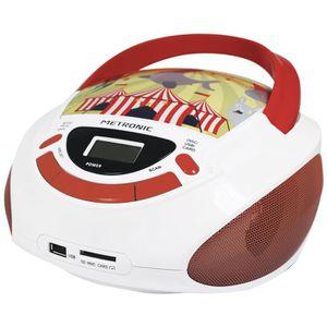 RADIO CD CASSETTE Metronic 477145 Radio Lecteur CD Enfant Circus ave