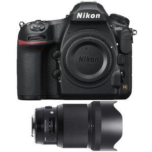 PACK APPAREIL RÉFLEX Nikon D850 Nu + Sigma 85mm F1.4 DG HSM Art