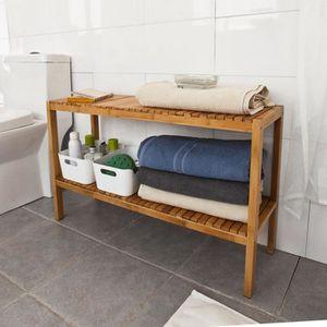 MEUBLE À CHAUSSURES SoBuy® FSR14-L-N Étagère salle de bain en bambou r