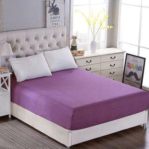 DRAP HOUSSE drap housse violet 140*190 bonnet 30cm drap de lit