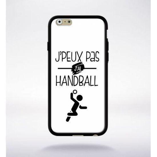 Coque j'peux pas j'ai handball 10 compatible iphone 6s bord noir ...