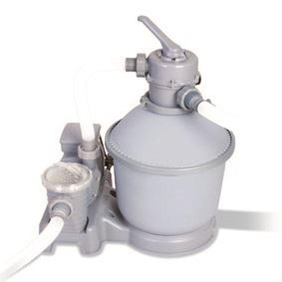 Pompe filtration sable ou polysphères Bestway Pompe filtrante  11.35 m3h Blanc 7