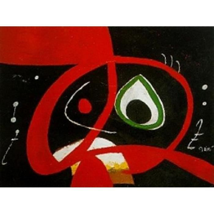 joan miro poster reproduction t te 60 x 80 cm achat vente affiche poster cdiscount. Black Bedroom Furniture Sets. Home Design Ideas