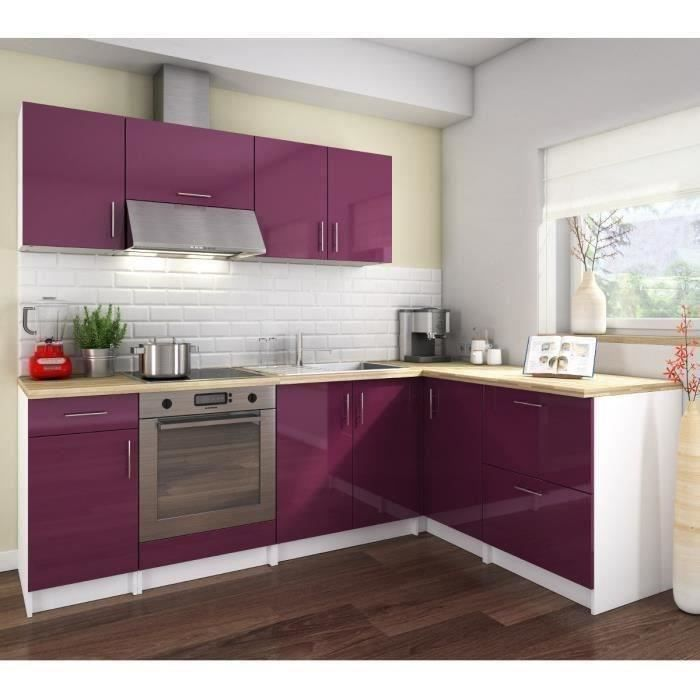 cosy cuisine compl te 280 cm laqu aubergine achat vente cuisine compl te cosy cuisine. Black Bedroom Furniture Sets. Home Design Ideas