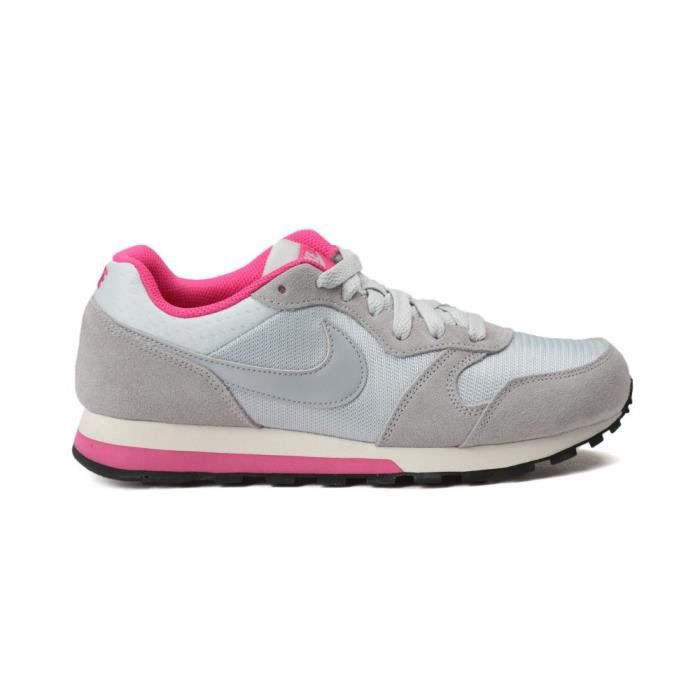 nike baskets md runner 2 chaussures femme femme gris et rose achat vente nike baskets femme. Black Bedroom Furniture Sets. Home Design Ideas