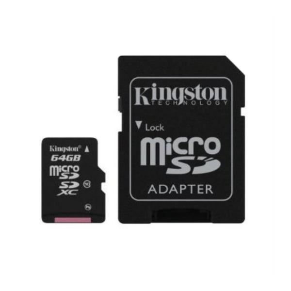 Pour WIKO TOMMY : Carte 64 Go Classe 10 Micro Sd Hc + Adapt Sd Integral